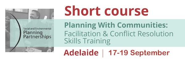 NRMjobs - 20003376 - Short Course: Planning With Communities - Facilitation & Conflict Resolution