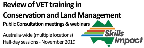 NRMjobs - 20004203 - Review of VET training in Conservation and Land Management