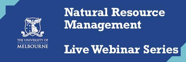 NRMjobs Notice 20005332 - Natural Resource Management Live Webinar Series
