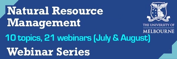 NRMjobs Notice 20005582 - Natural Resource Management Webinar Series
