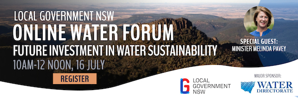 NRMjobs Notice 20005654 - Online Water Forum - Future Investment in Water Sustainability